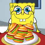 Spongebob Love Eating Hamburger